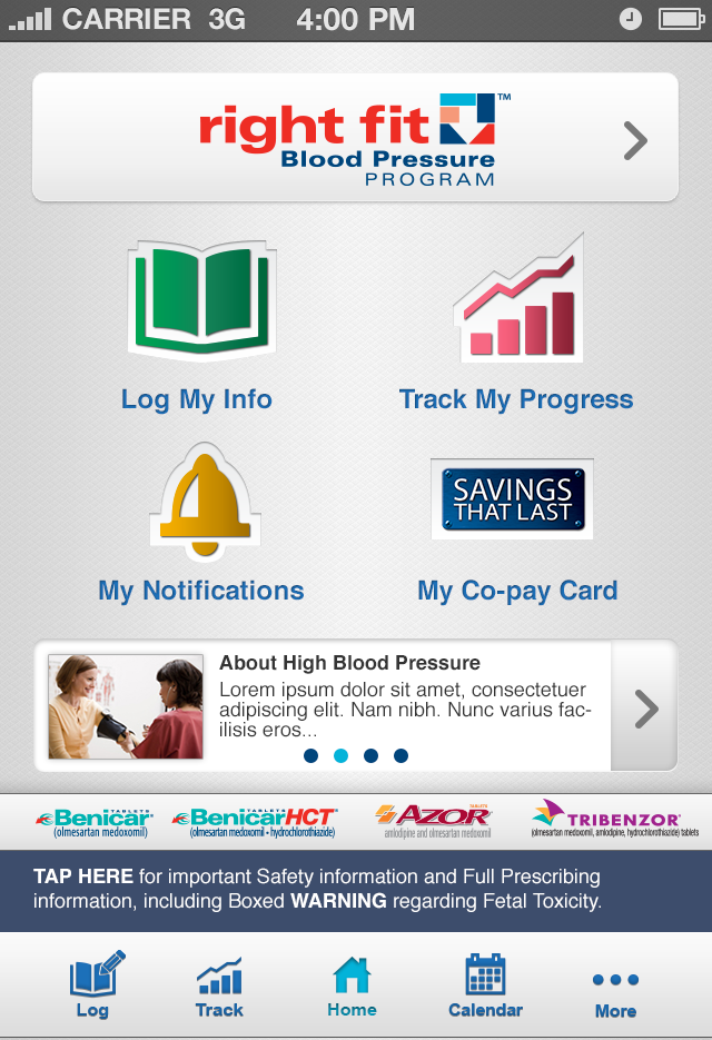 blood pressure log online